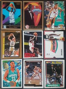 NBA Basketball Collector Cards Michael Jordan Larry Bird Chicago Bulls 1990s × 9