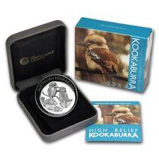 2013 Australian Kookaburra 1 oz Silver Proof High Relief Coin with Box & COA
