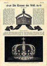 Die Kronen der Welt Deutsche Kaiserkrone preussische Königskrone österrei...1901