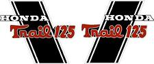 "CT70H Trail CT70HKO 125cc frame decals, graphics, Stickers.    CUSTOM ""TRAIL125"""