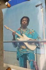 Early Rare Vintage JIMI HENDRIX MONTEREY 1970 KEVIN GOFF Poster - 1st Print?