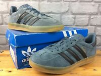 ADIDAS ORIGINALS MENS UK 7 EU 40 2/3 GAZELLE BLUE BLACK SUEDE TRAINERS RRP £75 *