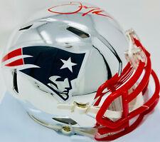 New England Patriots Julian Edelman Signed Chrome Mini Helmet Red - Beckett BAS