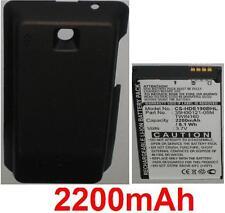 Coque Noir+ Batterie 2200mAh Pour HTC Hero