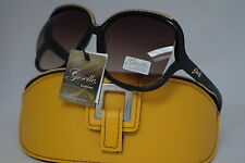DG SUNGLASSES CELEBRITY BLACK&GOLD GISELLE LUNETTES  COLLECTION +YELLOW CASE *34
