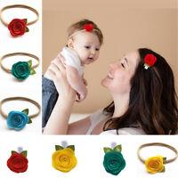 Women Kids Baby Girls Rose Flower Hair Band Headband Headwear Xmas Gifts