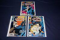 CLOAK & DAGGER 1983 (#1 3 4) MARVEL COMICS MEDIUM GRADES CRISP COLORS