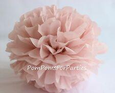 Papier Pom-pons Seidenpapier Pom Poms Geburtstag Hochzeitsdeko - Ash Pink