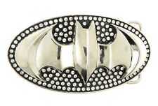 Batman Official 3D Logo Rhinestones Metal Belt Buckle