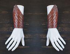 "for 2 hands. Burning Man Cosplay Handmade Leather Pair Bracelet ""Wings"". Dressed"