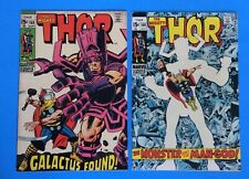 Mighty Thor #168, 169 (Marvel, 1969) Origin Of Galactus Silver Age Jack Kirby