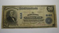 $20 1902 Duncannon Pennsylvania PA National Currency Bank Note Bill Ch. #4142