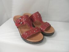Clarks Women's Hayla Young Dress Sandals, Color-Red, Size 8M, 8.5M, NWOB
