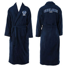 Geelong Cats AFL Mens Navy Blue Fleece Dressing Gown Bath Robe One Size New