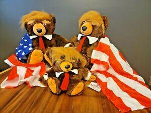 2 Trumpy Bear & Golf Driver Headcover American Flag Cape Zip - NWT