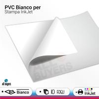 Carta PVC Adesiva Bianca A4 per stampanti InkJet 10 Fogli Adesivi Bianchi INKJET