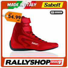 bfe3c2cd466 FIA Shoes Sabelt Light High Racing BOOTS Leather Red Size 37 Nomex