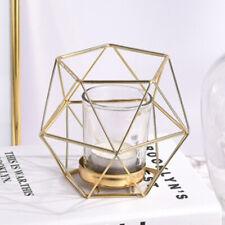 8 Stück geometrische Hochzeit Kerzenhalter Votivkerzen Teelichthalter Golden