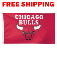 Deluxe Chicago Bulls Logo Flag 2018 NBA Basketball Fan Banner 3X5 ft New