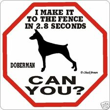 Doberman 2.8 Fence Sign