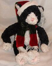 New GUND CHRISTMAS Black and White Cat Kitten Ideal Purrfect Gift Free Delivery