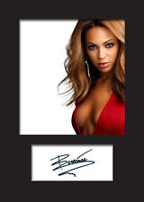 BEYONCE #1 Signed Photo Print A5 Mounted Photo Print - FREE DELIVERY