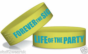 Forever The Sickest Kids Life Of The Party  Wristband Rokk Bands  OFFICIAL NEW