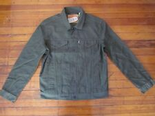 New Levi's Timberline Olive Army Green Trucker Jacket Size S