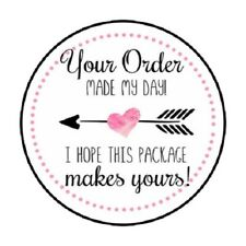 "48 Your Order Made My Day!  ENVELOPE SEALS LABELS STICKERS 1.2"" ROUND"