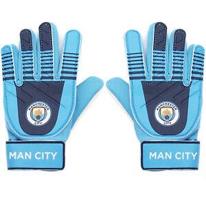 Manchester City Boys Gloves Goalie Goalkeeper Kids Youths OFFICIAL Football Gift