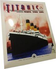 Titanic art deco print, small poster 8x10 paper ready for framing w/Titanic coal