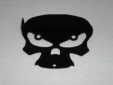 Harley Davidson Touring Lower Mount Cover 2009 to 2013 Black Skull Bell Hanger
