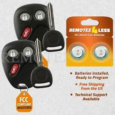2 New Replacement Keyless Entry Remote Key Fob for LHJ011 + 102P Keys n Clips