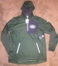Men's New York Jets Nike Green Vapor Speed Fly Rush Half-Zip Jacket Size Large