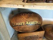 A Full Size Vintage leather 'Cardiff Arms Park' Rugby Ball welsh rugby