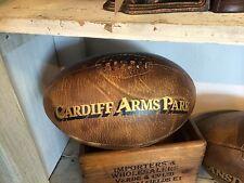 Voll Größe Vintage leder 'Cardiff Arme Park' Rugbyball walisische Rugby