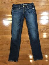 Womens Size 0 American Eagle Outfitters Skinny Jeans Dark Wash