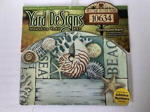 Yard DeSigns **SEA/BEACH/NAUTICAL** Magnetic Yard Art Address Marker BRAND NEW