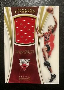 Scottie Pippen 2015 Panini Immaculate 🔥 Authentic Game Worn Jersey /75 Relic