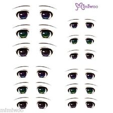 Obitsu 27cm Body 1/6 Dollfie Doll Head Faceup Eye Decal Sticker 03 (12 Pairs)