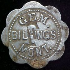 New ListingBillings Montana Trade Token Gem Gf 5¢ It Montana Mont