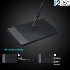Graphics Drawing Tablet For Laptop Pc Windows MAC With Pen Portable Wireless