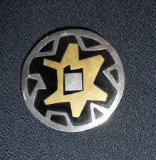 Rare Large 1940's Signed Mexican Modernist Brooch