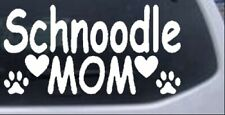 Schnoodle Mom with Dog Paw Prints Car Truck Window Laptop Decal Sticker 8X4.5