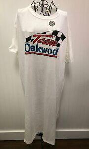 Vtg Team Oakwood Homes Richard Petty Ladies T-shirt Dress Night Gown One Sz NEW