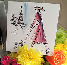 G9 PARIS;FASHION; FIFTIES DIOR LADY WITH DOG;GIRLFRIEND; UK MADE;SQUARE; QUALITY