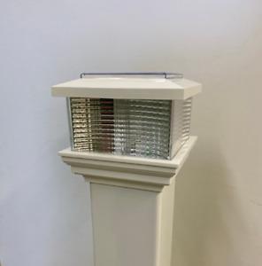 LED Caravan post light Upvc- White/Black/Beige Available!
