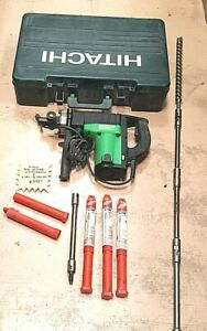 """Hitachi Rotary Hammer DH40FB w/New 1-1/8"""" x 16"""" Bit and 8 LHS 11"""" Extensions"""