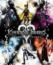 Kingdom Hearts Game Fabric Art Cloth Poster 16inch x 13inch Decor 46