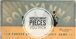 Pollyanna Dixie Vintage Parker Brothers Game Replacement Pieces - You Pick